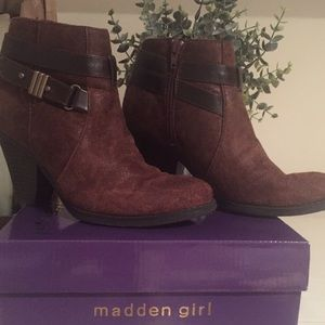 Madden Girl Brown Suede Bootie